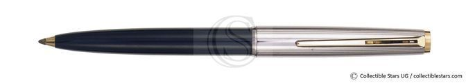 Montblanc Classic no.282 clip mechanism ballpoint black / silver metal    pinestriped