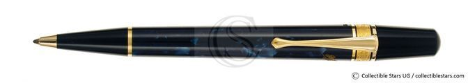 Montblanc Edgar Alan Poe Writers Editions turning mechanism ballpoint blue marbled