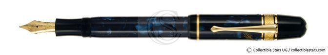 Montblanc Edgar Alan Poe Writers Editions piston filler blue marbled