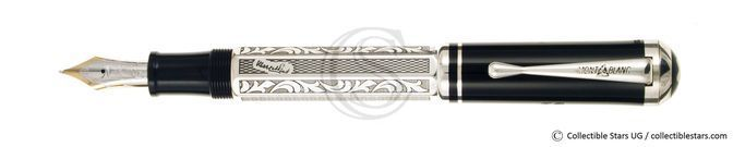Montblanc Marcel Proust Writers Editions piston filler silver, stamped
