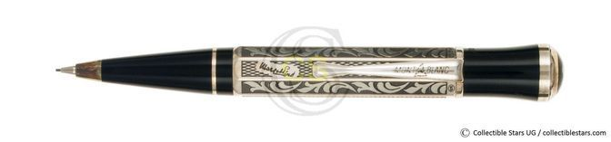 Montblanc Marcel Proust Writers Editions propelling pencil silver, stamped